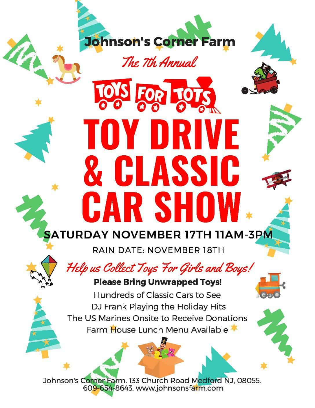 Toys For Tots Car Show And Gift Collection Johnsons Farm Pumkin - Toys for tots car show 2018