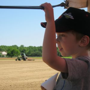boy on farm